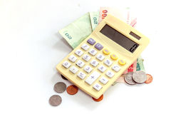 Calculator / abacus to calculate that works all the time Stock Image
