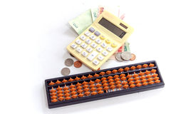 Calculator / abacus to calculate that works all the time Stock Photography