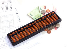 Calculator / abacus to calculate that works all the time Royalty Free Stock Photo