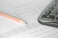 Calculator on account book Royalty Free Stock Photos