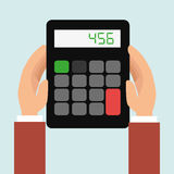 Calculator accountant tax money. Illustration eps 10 Stock Image