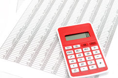 Calculator and Accounting documents Royalty Free Stock Photography