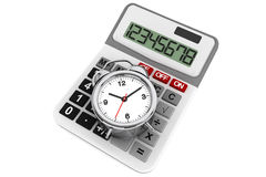 Calculator and alarm clock Stock Photography
