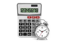 Calculator and alarm clock Stock Images