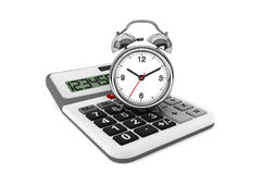 Calculator and alarm clock Royalty Free Stock Photo
