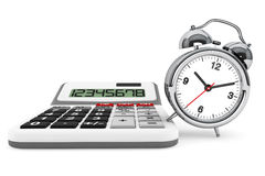 Calculator and alarm clock Royalty Free Stock Photography