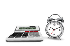 Calculator and alarm clock Royalty Free Stock Photos