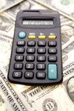 Calculator & contant geld royalty-vrije stock afbeelding