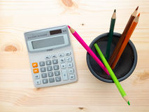 Free Calculator And Desk Organizer Royalty Free Stock Photography - 72661967