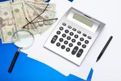 Calculator And Pen Royalty Free Stock Photos