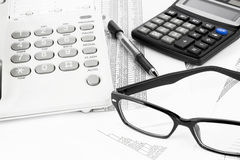 Calculator And Pen Royalty Free Stock Photo