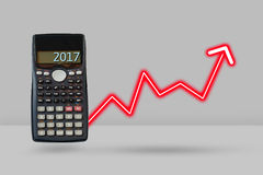 Calculator and arrow growth up, Financial planning concept. Royalty Free Stock Photos