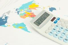 Calculator as symbol of business - conceptual series. Calculator as symbol of international business - conceptual series royalty free stock images