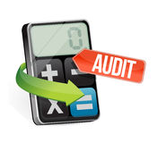 Calculator audit sign illustration design Stock Images