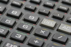 Calculator background Royalty Free Stock Images
