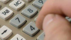 Calculator background closeup