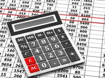Calculator and balance Stock Image