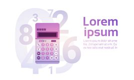 Calculator Banking Accountant Finance Business. Flat Vector Illustration stock illustration