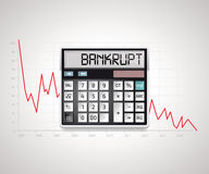 Calculator - bankruptcy. Business risk concept Stock Photos