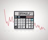 Calculator - bankruptcy Stock Photos