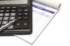 Calculator and bill Royalty Free Stock Images