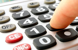 The calculator with black keys Stock Images
