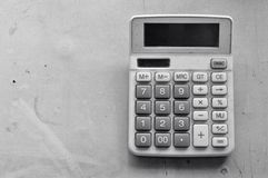 Calculator. The calculator in black and white Royalty Free Stock Images