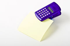 Calculator with Blank Note Paper Royalty Free Stock Photo