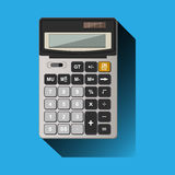 Calculator on blue background Stock Image
