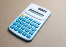 Calculator with blue buttons Royalty Free Stock Photos
