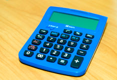 Calculator blue Royalty Free Stock Photos