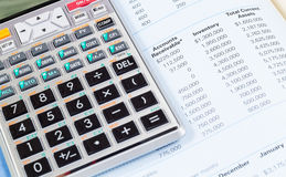 Calculator and book Royalty Free Stock Photography