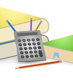 Calculator and books Royalty Free Stock Photography