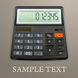Calculator on brown Royalty Free Stock Photography