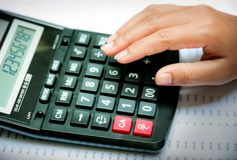 Calculator with business Stock Images