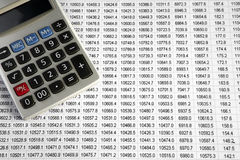 A calculator on a business dat Royalty Free Stock Image