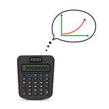 Calculator and business graph Stock Photo