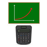 Calculator and business graph Royalty Free Stock Image