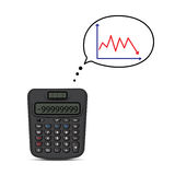 Calculator and business graph Stock Image