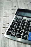 Calculator and business paper Royalty Free Stock Images