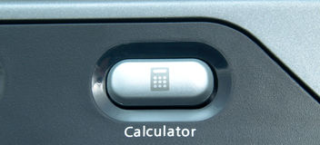 Calculator button Royalty Free Stock Images