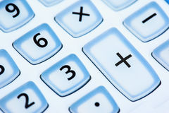 Calculator button close up Stock Photo