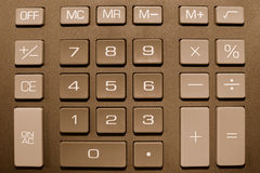 Calculator buttons. Keypad of a calculator close up Royalty Free Stock Photo