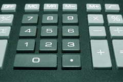 Calculator buttons. Keypad of a calculator close up Royalty Free Stock Photography