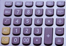 Calculator Buttons Royalty Free Stock Image