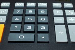 Calculator buttons Stock Photos