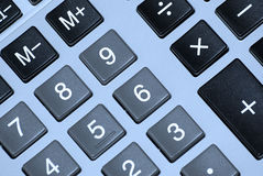 Calculator buttons. Close up on calculator buttons Stock Photo