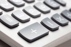 Calculator buttons Stock Photography