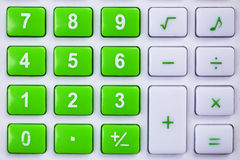 Calculator buttons. Closed up calculator buttons in different color Stock Photo
