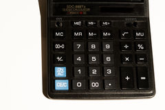 Calculator buttons closeup Royalty Free Stock Photography